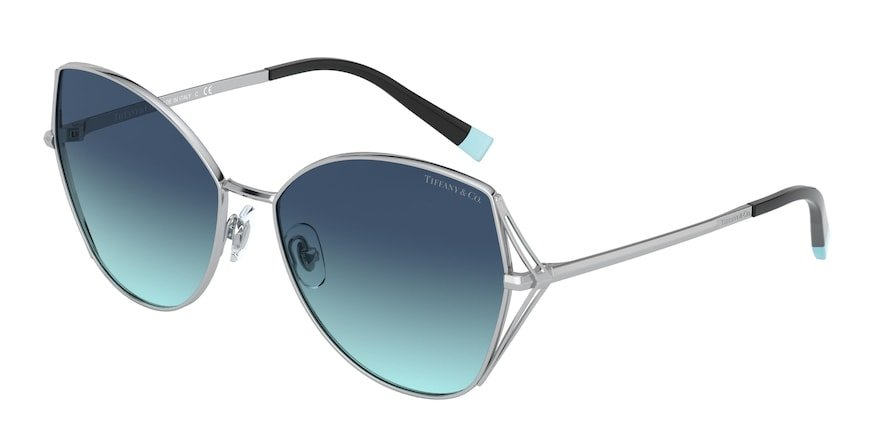 Tiffany TF3072 Silver Lentes Azure Gradient Blue