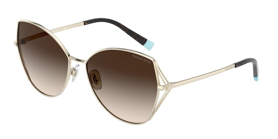 Tiffany TF3072 Pale Gold Lentes Brown Gradient