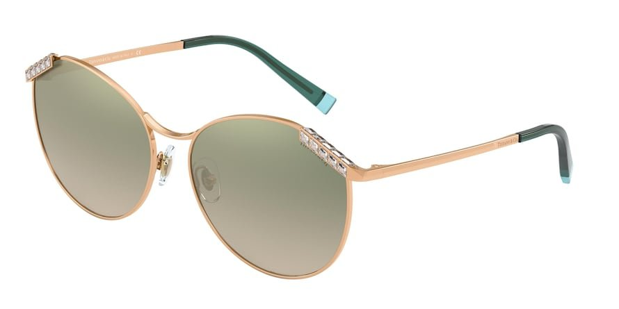 Tiffany TF3073B Rubedo Lentes Clear Grad Green Mirror Silver