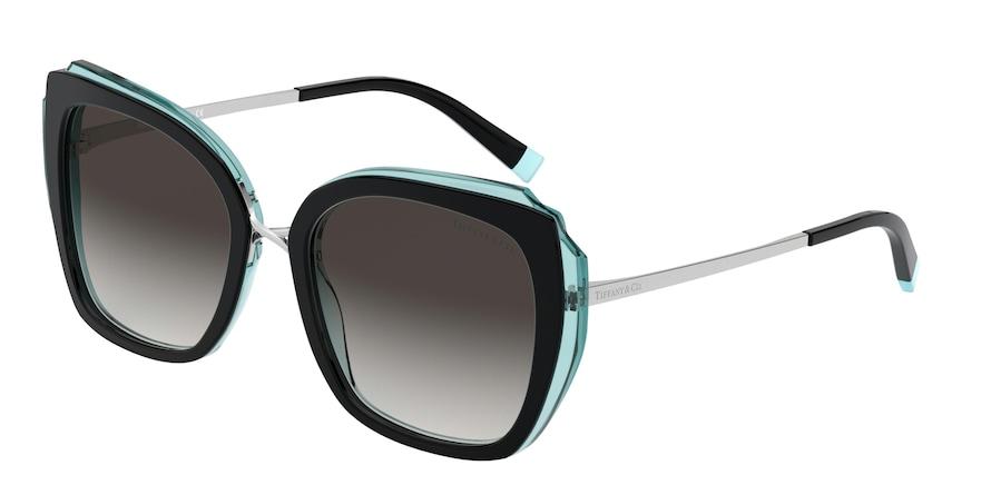 Tiffany TF4160 Black/Transparent Blue Lentes Grey Gradient