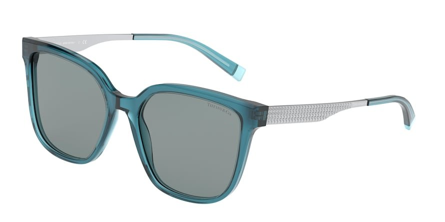 Tiffany TF4165 Transparent Turquoise Lentes Dark Grey