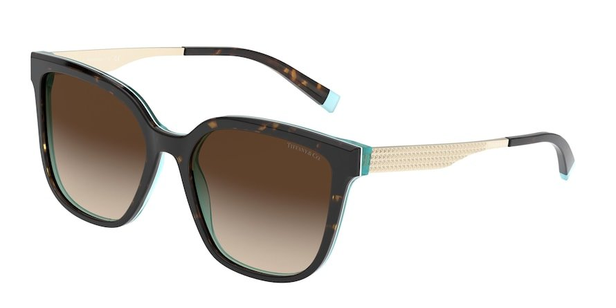 Tiffany TF4165 Havana/White/Blue Lentes Brown Gradient