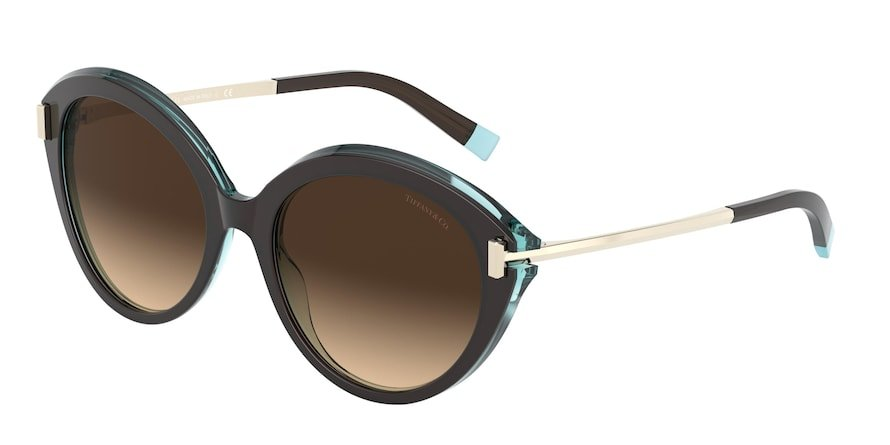 Tiffany TF4167 Havana/Transparent Blue Lentes Brown Gradient
