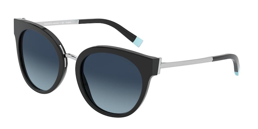 Tiffany TF4168 Black Lentes Polar Azure Gradient Blue