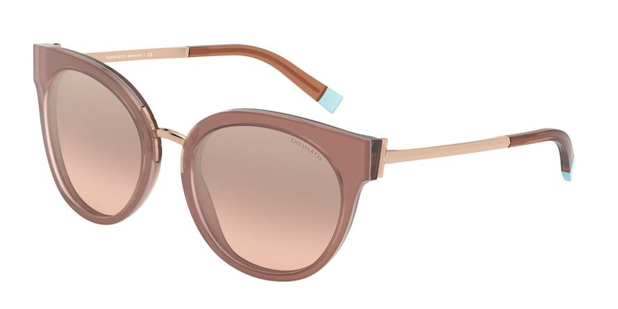 Tiffany TF4168 Beige Pink/Transparent Brown Lentes Light Brown Mirror Silver Grad
