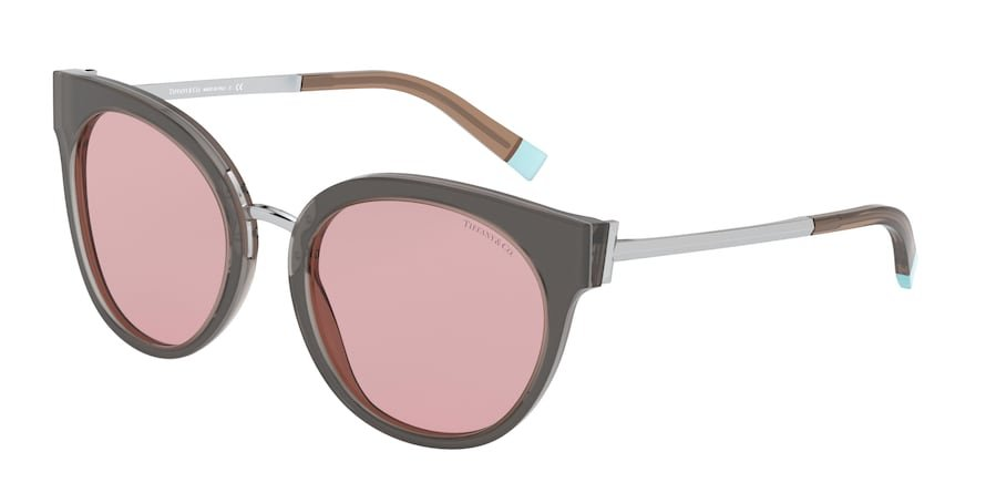 Tiffany TF4168 Grey/Transparent Grey Lentes Light Pink