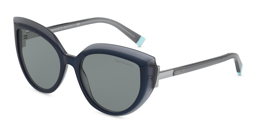 Tiffany TF4170 Blue/Blue Grey Transparent Lentes Dark Grey