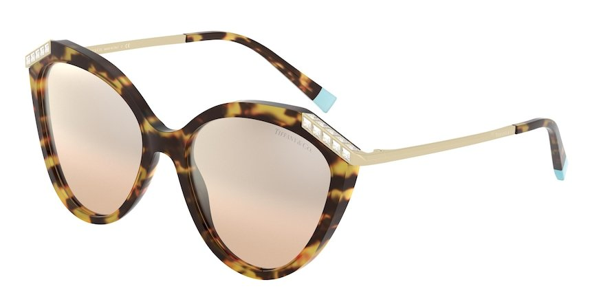 Tiffany TF4173B Yellow Havana Lentes Brown Gradient Silver Mirror