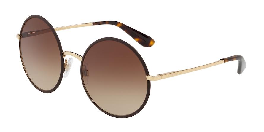 Dolce & Gabbana DG2155 Matte Brown Lentes Brown Gradient
