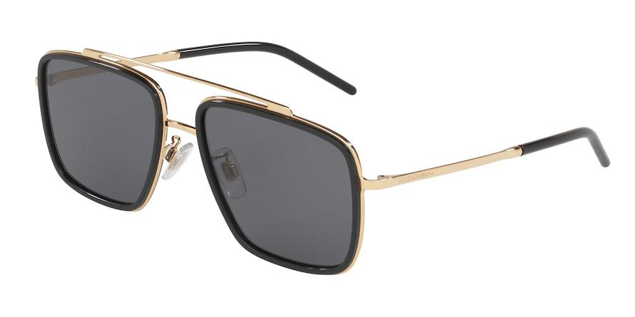 Dolce & Gabbana DG2220 Gold/Black Lentes Polar Grey