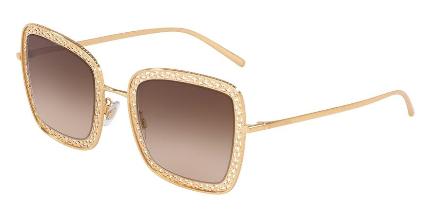 Dolce & Gabbana DG2225 Gold Lentes Brown Gradient