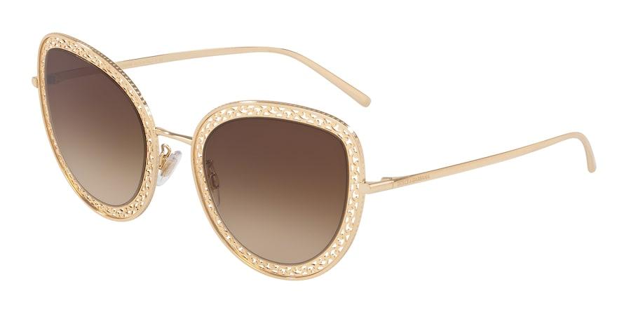 Dolce & Gabbana DG2226 Gold Lentes Brown Gradient