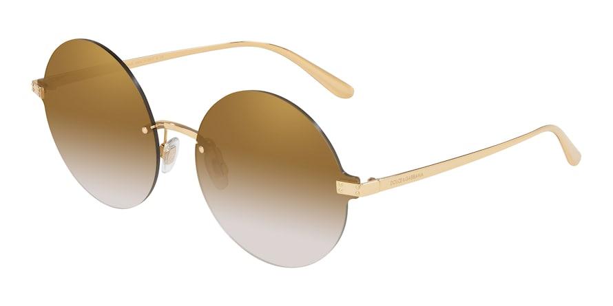 Dolce & Gabbana DG2228 Gold Lentes Grad Light Brown Mirror Gold