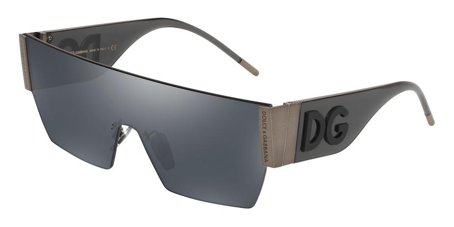 Dolce & Gabbana DG2233 Matte Dark Gunmeal Lentes Grey Mirror Black