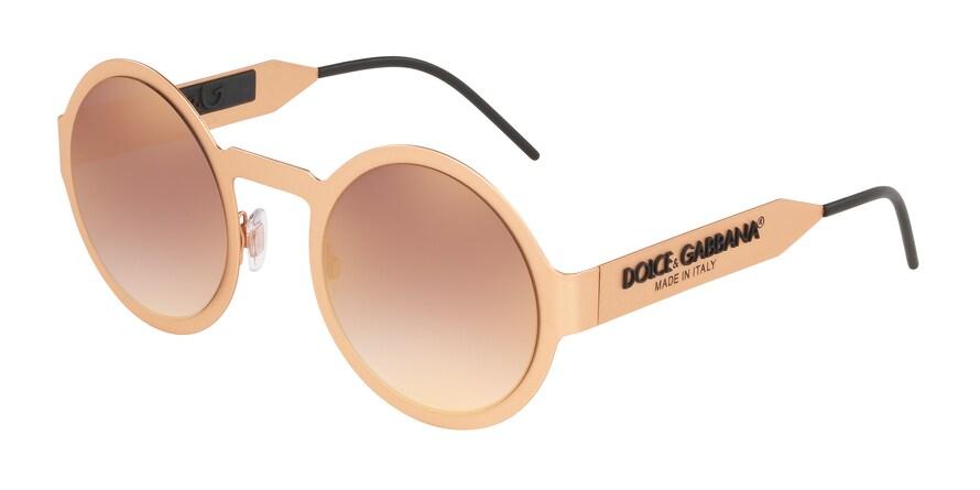 Dolce & Gabbana DG2234 Matte Pink Gold Lentes Gradient Pink Mirror Pink