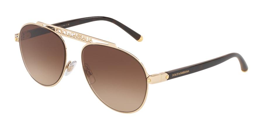 Dolce & Gabbana DG2235 Gold Lentes Brown Gradient