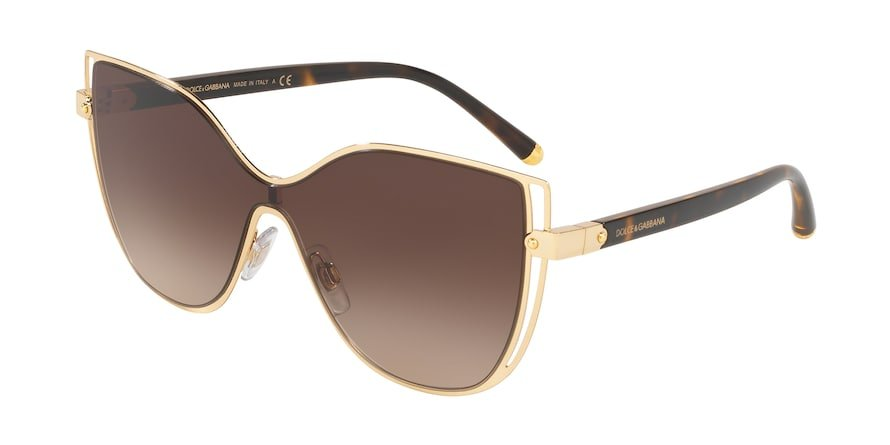 Dolce & Gabbana DG2236 Gold Lentes Brown Gradient