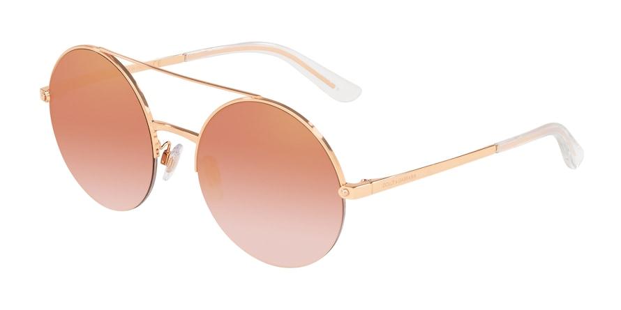 Dolce & Gabbana DG2237 Pink Gold Lentes Gradient Pink Mirror Pink