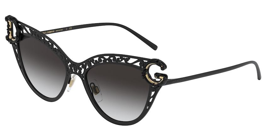 Dolce & Gabbana DG2239 Black Lentes Grey Gradient