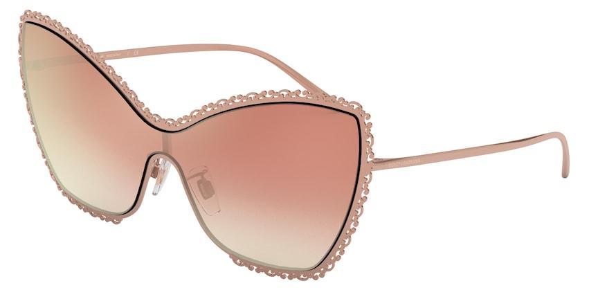 Dolce & Gabbana DG2240 Pink Gold Lentes Gradient Pink Mirror Pink