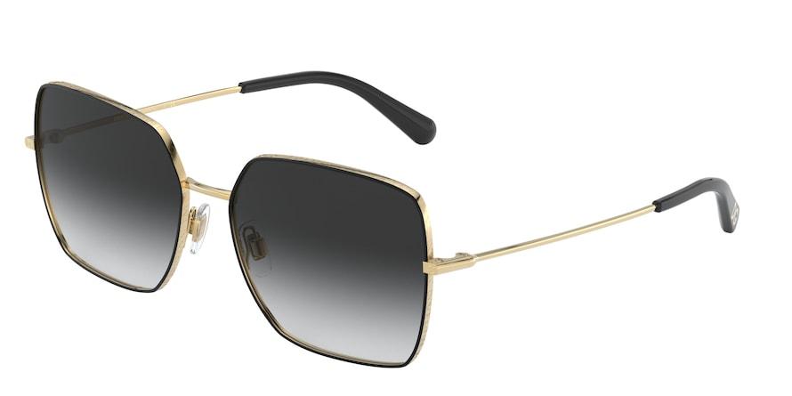 Dolce & Gabbana DG2242 Gold/Black Lentes Grey Gradient