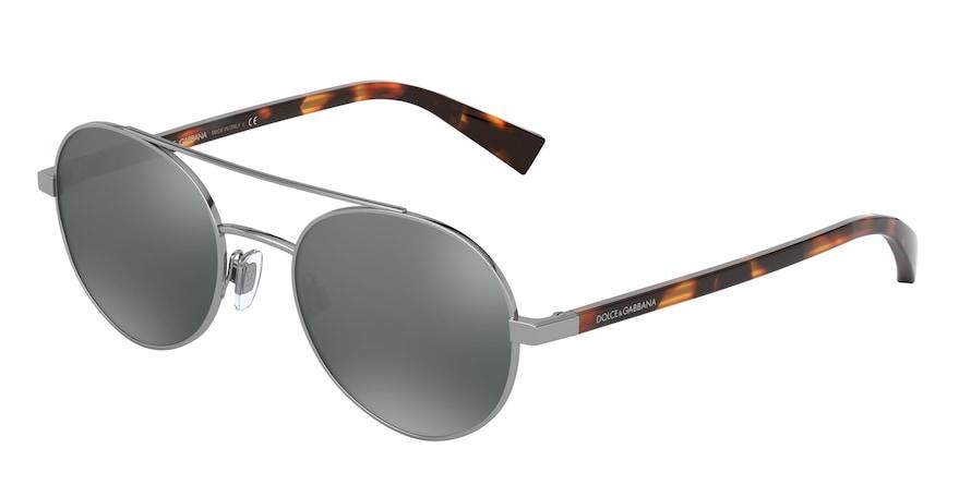 Dolce & Gabbana DG2245 Gunmetal Lentes Light Grey Mirror Black