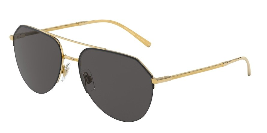 Dolce & Gabbana DG2249 Gold/Matte Black Lentes Grey