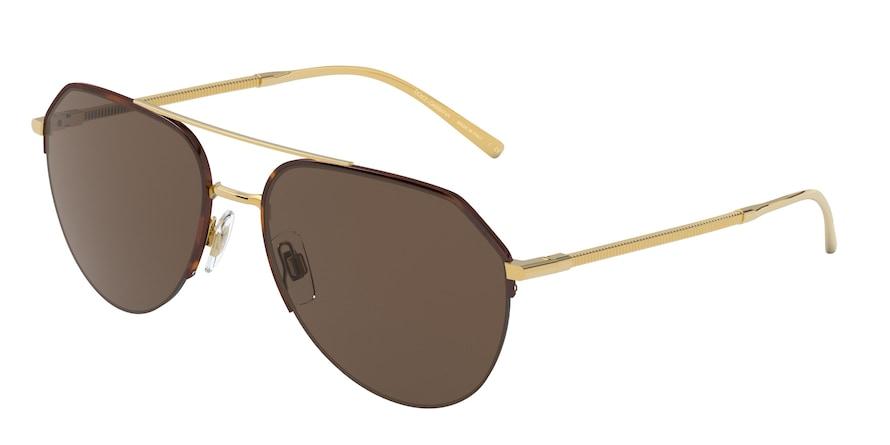 Dolce & Gabbana DG2249 Gold/Havana Lentes Brown