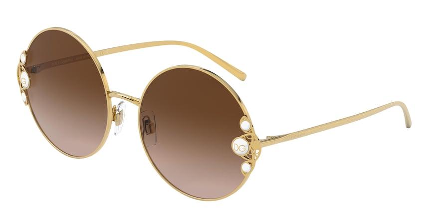 Dolce & Gabbana DG2252H Gold Lentes Brown Gradient
