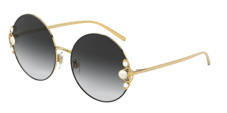 Dolce & Gabbana DG2252H Gold/Black Lentes Grey Gradient