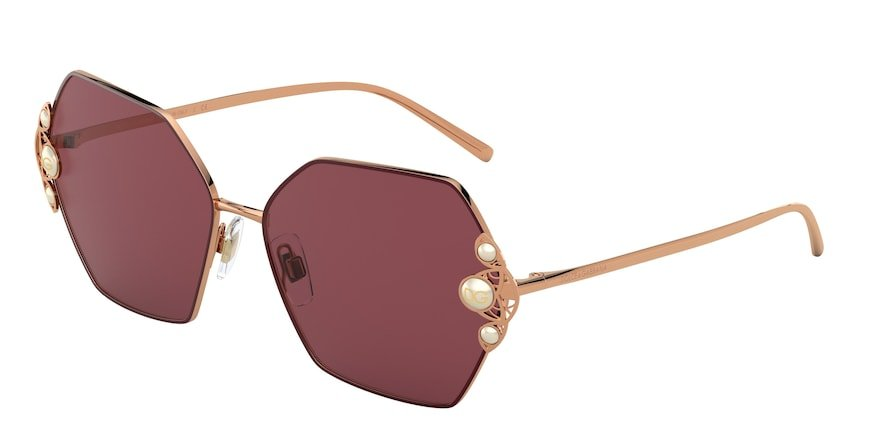 Dolce & Gabbana DG2253H Gold/Bordeaux Lentes Dark Violet