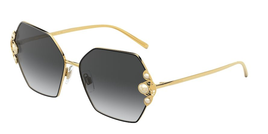 Dolce & Gabbana DG2253H Gold/Black Lentes Grey Gradient