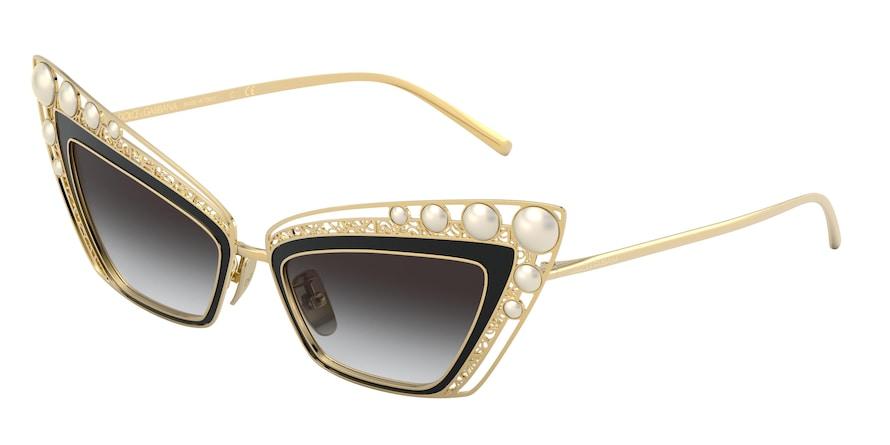 Dolce & Gabbana DG2254H Gold/Black Lentes Grey Gradient