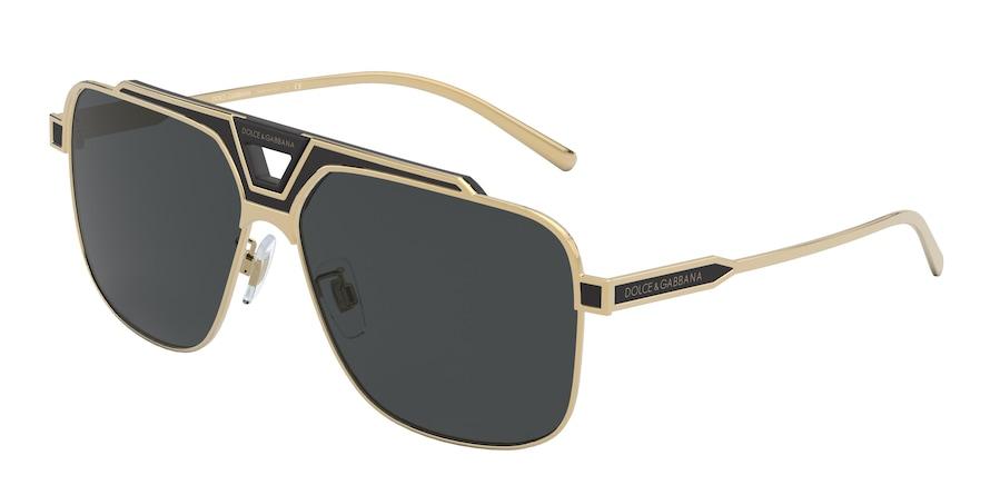 Dolce & Gabbana DG2256 Gold/Black Matte Lentes Grey