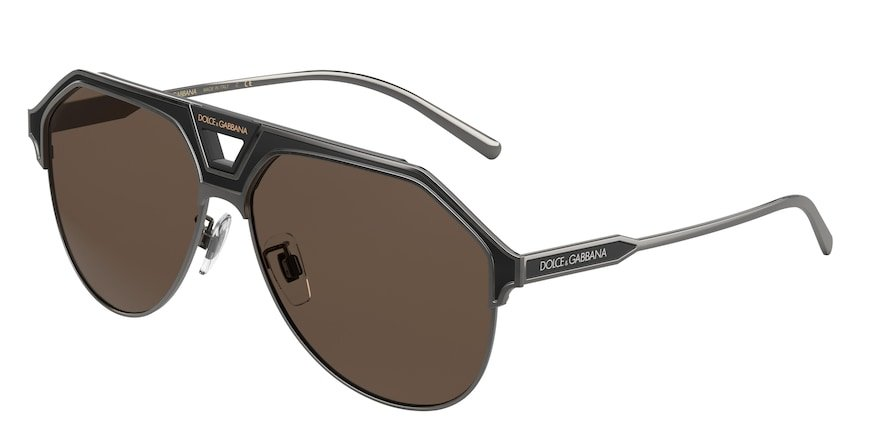 Dolce & Gabbana DG2257 Bronze/Black Matte Lentes Dark Brown