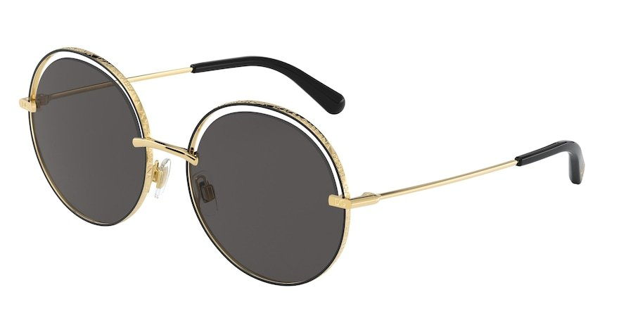 Dolce & Gabbana DG2262 Gold/Black Lentes Grey