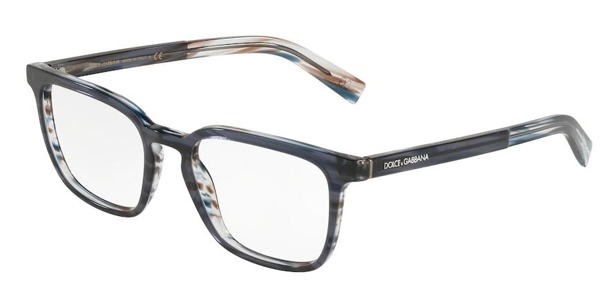 Dolce & Gabbana DG3307 Transparent Blue/Striped Blue