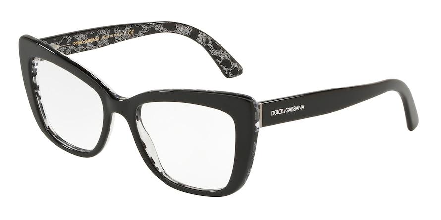 Dolce & Gabbana DG3308 Black On Leo Glitter