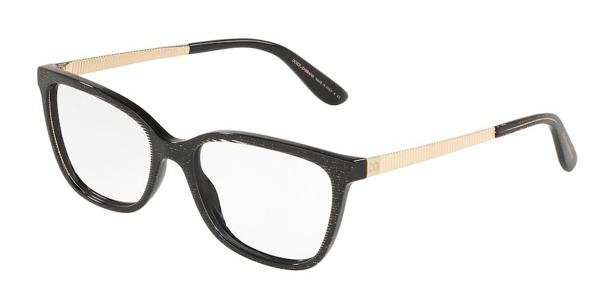 Dolce & Gabbana DG3317 Glitter Gold Striped Black