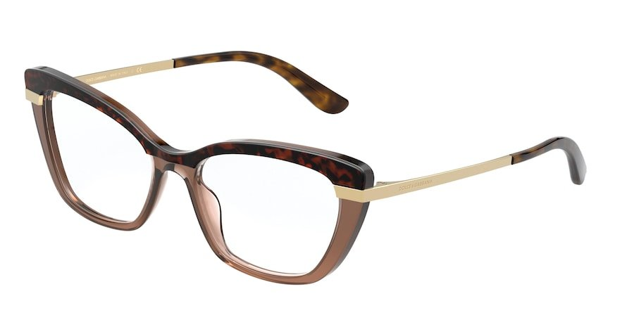 Dolce & Gabbana DG3325 Top Havana On Transp Brown