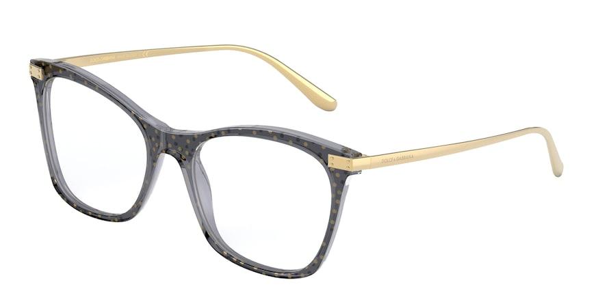 Dolce & Gabbana DG3331 Transparent Black/Pois Gold