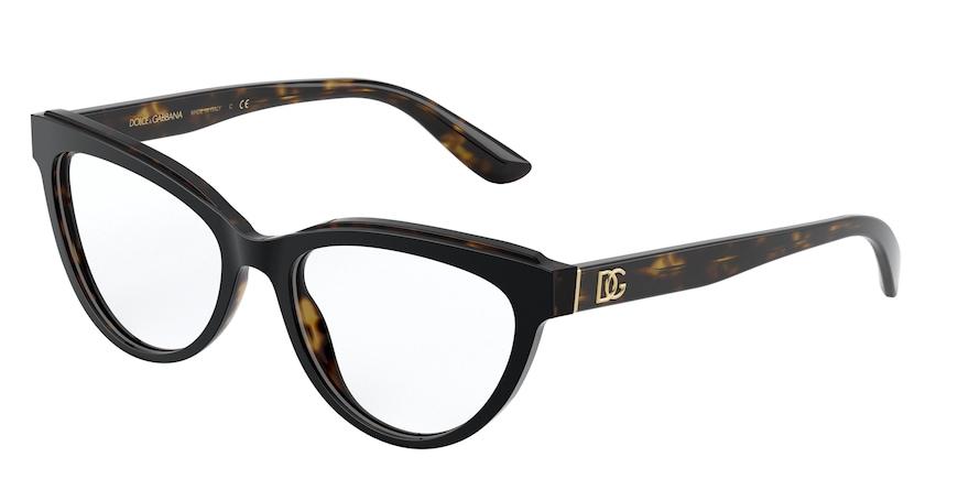 Dolce & Gabbana DG3332 Top Black On Havana