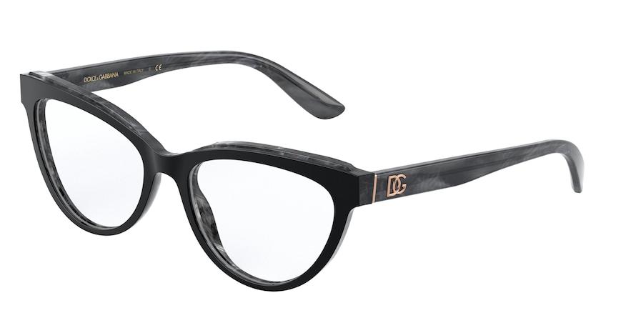 Dolce & Gabbana DG3332 Top Black On Grey Marble
