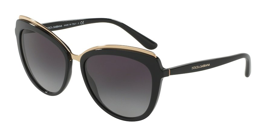 Dolce & Gabbana DG4304 Black Lentes Grey Gradient