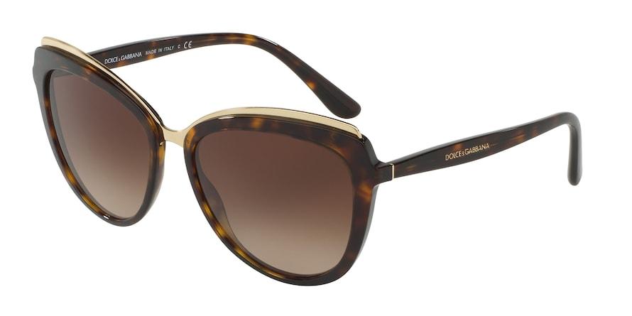 Dolce & Gabbana DG4304 Havana Lentes Brown Gradient