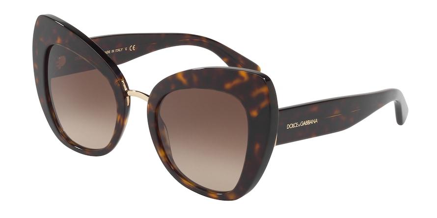 Dolce & Gabbana DG4319 Havana Lentes Brown Gradient