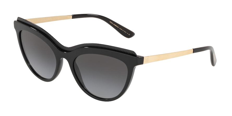 Dolce & Gabbana DG4335 Black Lentes Grey Gradient