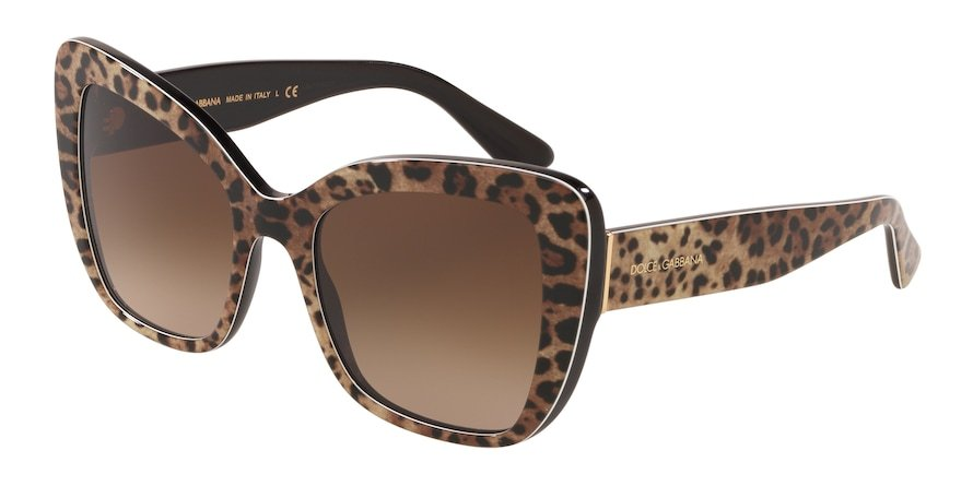 Dolce & Gabbana DG4348 Leo Brown On Black Lentes Brown Gradient