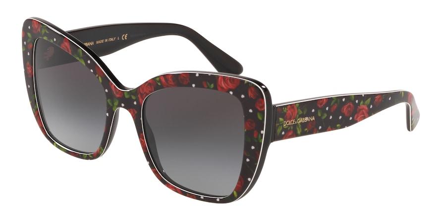 Dolce & Gabbana DG4348 Print Roses/Hearts Lentes Grey Gradient