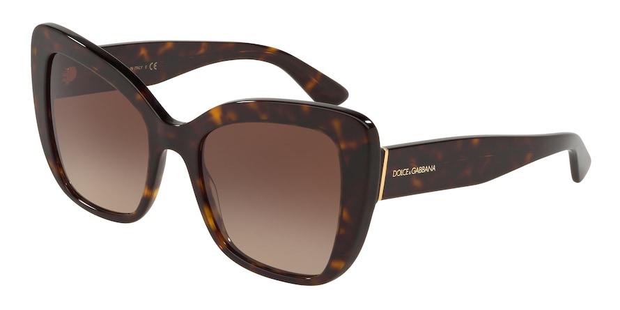 Dolce & Gabbana DG4348 Havana Lentes Brown Gradient